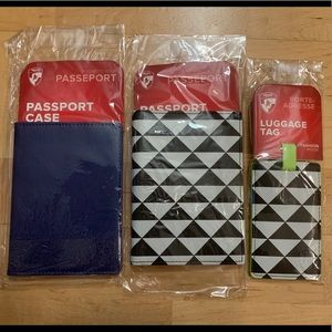 Heys 2 Passport Wallet Luggage Tag Set Holder Case